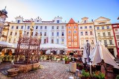 Weinig vierkant in Praag, Tsjechische Republiek Royalty-vrije Stock Fotografie