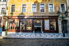 Weinig vierkant in Praag, Tsjechische Republiek Stock Fotografie