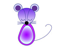 Weinig violette muis Vector illustratie Stock Foto's