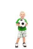 Weinig voetballer royalty-vrije stock foto