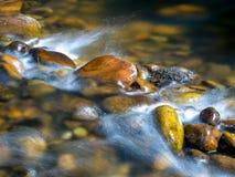 Weinig waterval op een rivier royalty-vrije stock afbeelding
