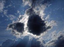 Weinig zwarte wolk Royalty-vrije Stock Foto's