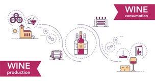 Weinillustrationseinzelteile Stockbild