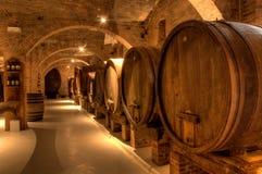 Weinkeller in der Abtei von Monte Oliveto Maggiore Lizenzfreie Stockfotografie