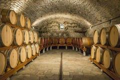 Weinkeller im Aostatal Lizenzfreies Stockfoto