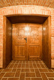 Weinkeller-Tür Stockfoto