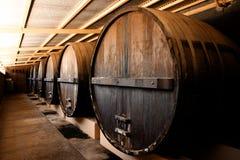 Weinkellerei-Fässer Lizenzfreies Stockfoto