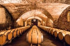 Weinkellerei in Frankreich Stockfoto