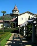 Weinkellerei-Gebäude, Sonoma, Kalifornien Stockbild