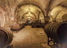 Weinkellerei von Kloster Eberbach-eltville morgens Rhein Rheingau Deutschem Stockfotos