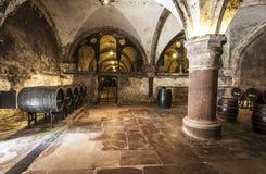 Weinkellerei von Kloster Eberbach-eltville morgens Rhein Rheingau Deutschem Stockfotografie