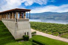 Weinkellerei-Weinberg in Kelowna, Britisch-Columbia Lizenzfreies Stockfoto