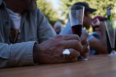 Weinkonsum Stockbild