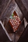 Weinkorken in Form der Trauben Lizenzfreie Stockfotografie