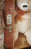 Weinlese-ähnlicher Teddybär Stockfoto