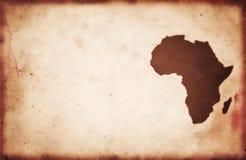 Weinlese-Afrika-Karte stockfotografie