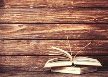 Weinlese-alte Bücher Stockfoto
