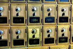 Weinlese-alter Art- und Weisemailbox Stockfoto