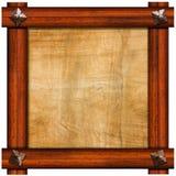 Weinlese-alter Holzrahmen stock abbildung