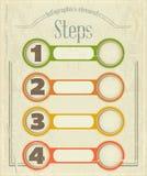 Weinlese Infographics Entwurf in der Retro Art Lizenzfreie Stockbilder