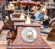 Weinlese-altes Telefon Lizenzfreie Stockfotografie