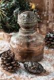 Weinlese-altmodische Weihnachtskarte Stockfotografie
