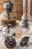 Weinlese-altmodische Weihnachtskarte Lizenzfreies Stockfoto