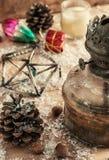 Weinlese-altmodische Weihnachtskarte Lizenzfreie Stockfotografie