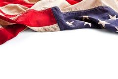 Weinlese-Amerika-Flaggengrenze getrennt auf Weiß Lizenzfreie Stockbilder