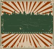 Weinlese-Amerikaner-Plakat Stockbilder