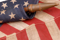 Weinlese-amerikanische Flagge Stockbilder