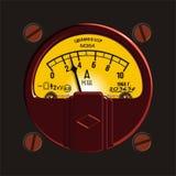 Weinlese ampermeter stock abbildung