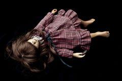 Weinlese-antike alte Puppe schlafend Stockbild