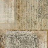 Weinlese-antiker Text-Papier-Hintergrund lizenzfreie stockfotos