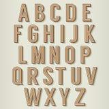 Weinlese-Art-Alphabete eingestellt Stockfoto