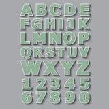 Weinlese-Art-Alphabete und Zahlen eingestellt Lizenzfreie Stockbilder