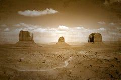 Weinlese-Art beflecktes Bild von Denkmal-TalLan lizenzfreie stockfotos