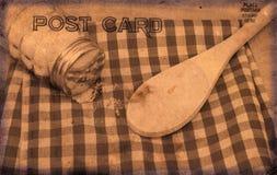Weinlese-Art-Postkarte Stockbild