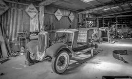Weinlese-Auto-Shop Lizenzfreies Stockbild