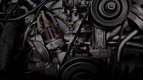 Weinlese-Automotor stock video