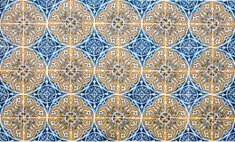 Weinlese azulejos, traditionelle portugiesische Fliesen stockbild
