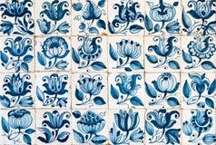 Weinlese azulejos, traditionelle portugiesische Fliesen stockfoto