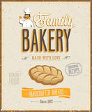 Weinlese-Bäckerei-Plakat. Stockbild
