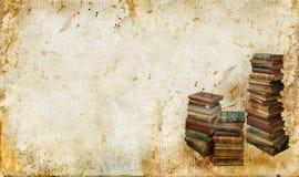 Weinlese-Bücher auf einem grunge Hintergrund Lizenzfreies Stockbild