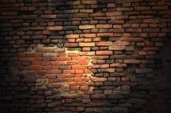 Weinlese-Backsteinmauer stockfotografie