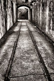 Weinlese-Bahnstrecke in verstärktem Verteidigungs-Fort Stockfotografie