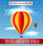 Weinlese baloon Plakatdesign Stockfotos