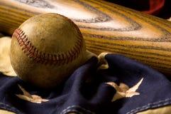 Weinlese-Baseball-Hintergrund Lizenzfreies Stockbild