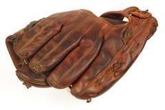 Weinlese-Baseballhandschuh Stockfotografie