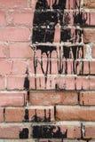 Weinlese befleckte Backsteinmauer Stockbild